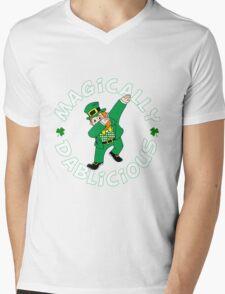 Dab Leprechaun Mens V-Neck T-Shirt