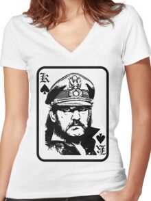 lemmy is king Women's Fitted V-Neck T-Shirt