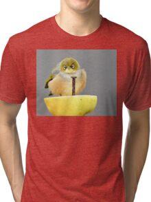 Ahhh! I Am So Sad - Silver-Eye - NZ Tri-blend T-Shirt