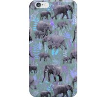 Sweet Elephants in Purple and Grey iPhone Case/Skin