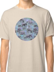 Sweet Elephants in Purple and Grey Classic T-Shirt