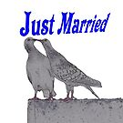 Just Married Pigeons - NZ by AndreaEL