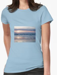 Beach Glow Womens Fitted T-Shirt