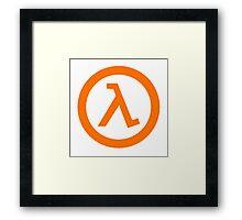 Half Life Lambda Framed Print