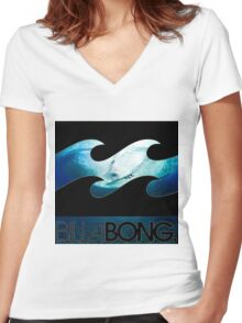 billabong  Women's Fitted V-Neck T-Shirt