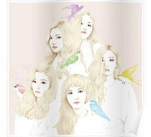 Red Velvet Ice Cream Cake Kpop Poster