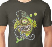 Slick Fish with Bubbles - Radioactive Green Unisex T-Shirt