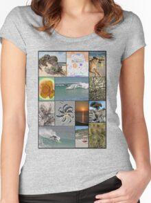 Collage Surf Tee Design Margaret River Western Australia Women's Fitted Scoop T-Shirt