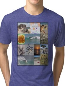 Collage Surf Tee Design Margaret River Western Australia Tri-blend T-Shirt