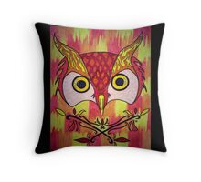 Owl inferno Throw Pillow