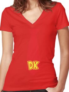 DK's TIE Women's Fitted V-Neck T-Shirt