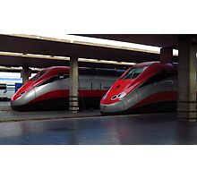 Trains, Florence Central Station Photographic Print