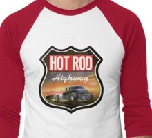 hot rod : highway Men's Baseball ¾ T-Shirt