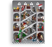 Crossed staircase in Lego® Canvas Print