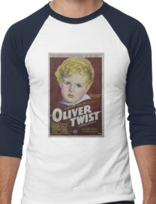 classic movie : Oliver Twist Men's Baseball ¾ T-Shirt