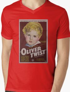 classic movie : Oliver Twist Mens V-Neck T-Shirt