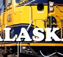 Alaska Railroad train engine (caption) Sticker