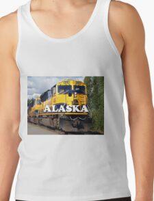 Alaska Railroad train engine (caption) Tank Top