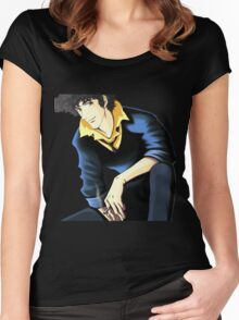 Spike Spiegel from the Anime/Manga Cowboy Bebop: Original Digital Painting Women's Fitted Scoop T-Shirt