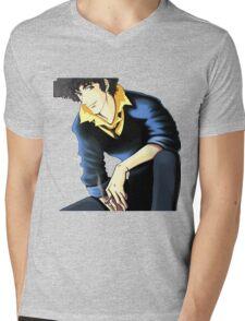 Spike Spiegel from the Anime/Manga Cowboy Bebop: Original Digital Painting Mens V-Neck T-Shirt