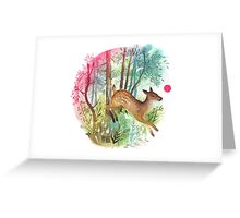 wild deer Greeting Card
