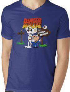 DOUBLE TROUBLE MOUSE Mens V-Neck T-Shirt