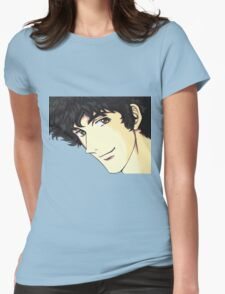 Spike Spiegel from the Anime/Manga Cowboy Bebop Original Digital Painting (face only) Womens Fitted T-Shirt