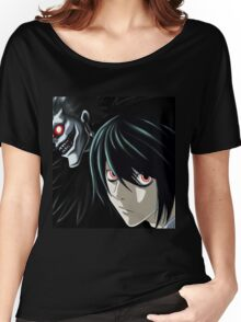 Ryuk and L from the Anime/Manga TV show Death Note: Original Digital Painting Women's Relaxed Fit T-Shirt