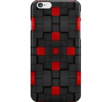 Pattern 83: Gray and red building blocks in 3D iPhone Case/Skin