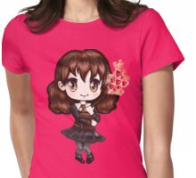 Cute Hermione Granger in Gryffindor Uniform Casting a Love Spell (Hand-Drawn Illustration) Womens Fitted T-Shirt