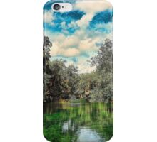 Cypress trees reflecting into the waters of Blue Spring State Park in Florida iPhone Case/Skin