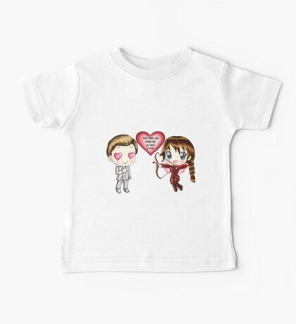 The Cute Version Of The Hunger Games (Love Themed Hand-Drawn Illustration) Baby Tee