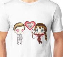 The Cute Version Of The Hunger Games (Love Themed Hand-Drawn Illustration) Unisex T-Shirt