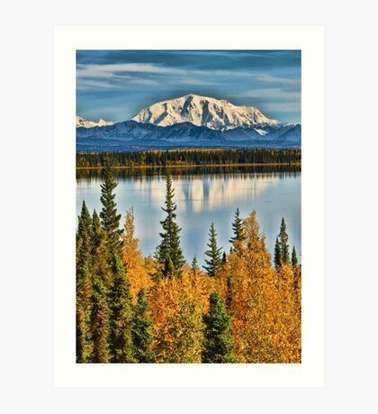 Reflections on Willow Lake of the Wrangell Mountains Art Print