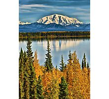 Reflections on Willow Lake of the Wrangell Mountains Photographic Print
