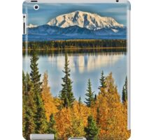 Reflections on Willow Lake of the Wrangell Mountains iPad Case/Skin