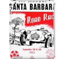 santa barbara Road race iPad Case/Skin