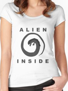 Alien Inside (Movie References) Women's Fitted Scoop T-Shirt