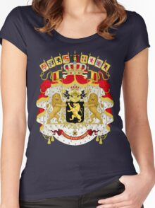 Great Coat of Arms of Belgium Women's Fitted Scoop T-Shirt
