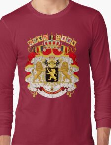 Great Coat of Arms of Belgium Long Sleeve T-Shirt