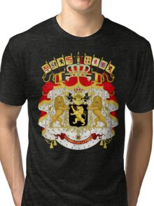 Great Coat of Arms of Belgium Tri-blend T-Shirt