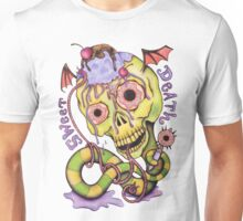 Sweet Death Skull - Cherries, Ice Cream and Donuts Unisex T-Shirt
