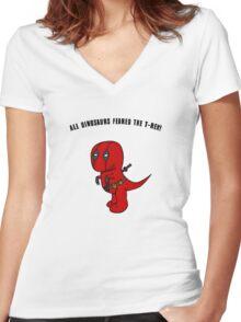 RexPool Women's Fitted V-Neck T-Shirt