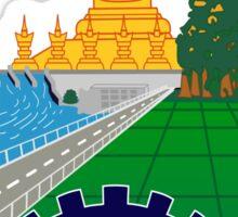 Emblem of Laos Sticker