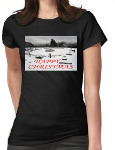 HAPPY CHRISTMAS 3 Womens Fitted T-Shirt