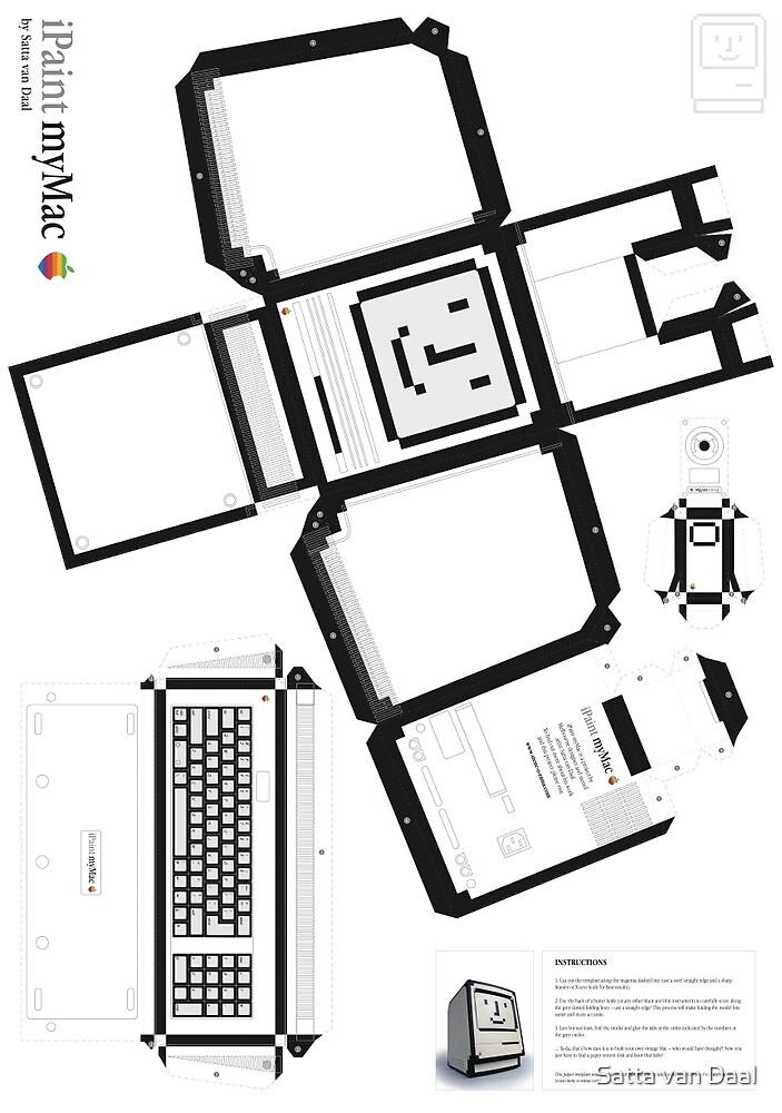 Happy Mac paper template by Satta van Daal