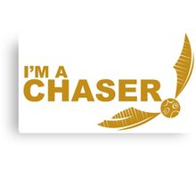 I'm a Chaser - yellow  Canvas Print