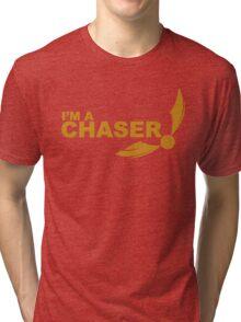 I'm a Chaser - yellow  Tri-blend T-Shirt