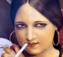 Vintage woman 2 Sticker