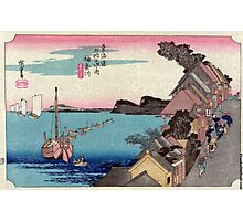 Kanagawa - Hiroshige Ando - 1833 - woodcut Photographic Print